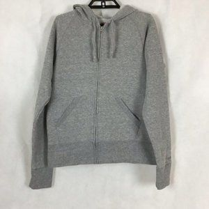 Soffe Hoodie Size L Gray Full Zip
